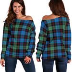 Tartan Womens Off Shoulder Sweater - Guthrie Ancient - BN