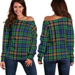 Tartan Womens Off Shoulder Sweater - Allison