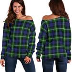 Tartan Womens Off Shoulder Sweater - Baillie Modern - BN