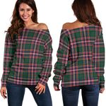 Tartan Womens Off Shoulder Sweater - MacFarlane Hunting Modern - BN