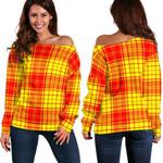 Tartan Womens Off Shoulder Sweater - MacMillan