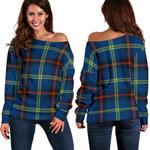 Tartan Womens Off Shoulder Sweater - Grewar