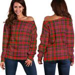 Tartan Womens Off Shoulder Sweater - MacAlister Modern