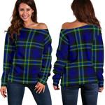 Tartan Womens Off Shoulder Sweater - Arbuthnot Modern
