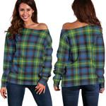 Tartan Womens Off Shoulder Sweater - Watson Ancient - BN