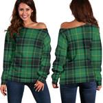 Tartan Womens Off Shoulder Sweater - MacArthur Ancient
