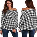 Tartan Womens Off Shoulder Sweater - Shepherd - BN