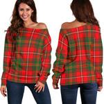 Tartan Womens Off Shoulder Sweater - Hay Modern - BN