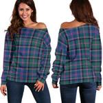 Tartan Womens Off Shoulder Sweater - Cooper Ancient - BN