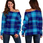 Tartan Womens Off Shoulder Sweater - McKerrell