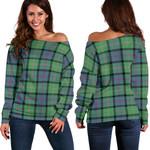Tartan Womens Off Shoulder Sweater - MacThomas Ancient