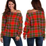Tartan Womens Off Shoulder Sweater - Drummond Of Perth