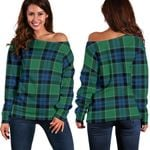 Tartan Womens Off Shoulder Sweater - Graham Of Menteith Ancient