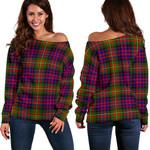 Tartan Womens Off Shoulder Sweater - Carnegie Modern