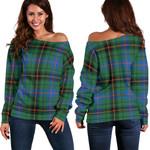 Tartan Womens Off Shoulder Sweater - Davidson Ancient - BN