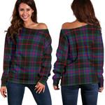 Tartan Womens Off Shoulder Sweater - Nairn