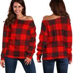 Tartan Womens Off Shoulder Sweater - Wemyss Modern