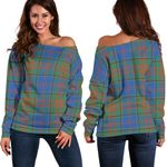 Tartan Womens Off Shoulder Sweater - Stewart Of Appin Hunting Ancient