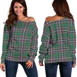 Tartan Womens Off Shoulder Sweater - MacFarlane Hunting Ancient