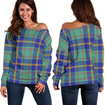 Tartan Womens Off Shoulder Sweater - US Marine - BN