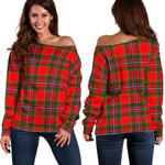 Tartan Womens Off Shoulder Sweater - Perthshire District