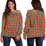 Tartan Womens Off Shoulder Sweater - Scott Ancient