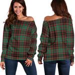 Tartan Womens Off Shoulder Sweater - Buchan Ancient