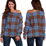 Tartan Womens Off Shoulder Sweater - Anderson Modern