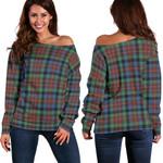 Tartan Womens Off Shoulder Sweater - MacDuff Hunting Ancient