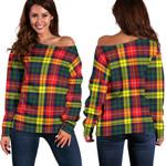 Tartan Womens Off Shoulder Sweater - Buchanan Modern - BN