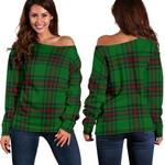 Tartan Womens Off Shoulder Sweater - Fife District