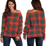 Tartan Womens Off Shoulder Sweater - Chisholm Ancient