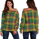 Tartan Womens Off Shoulder Sweater - MacMillan Old Ancient