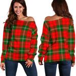Tartan Womens Off Shoulder Sweater - Lennox Modern