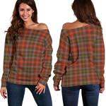 Tartan Womens Off Shoulder Sweater - MacKintosh Hunting Weathered