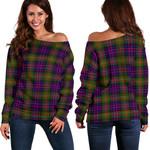 Tartan Womens Off Shoulder Sweater - MacDonnell Of Glengarry Modern - BN