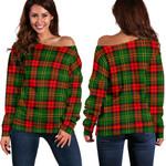 Tartan Womens Off Shoulder Sweater - Blackstock