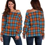 Tartan Womens Off Shoulder Sweater - MacLachlan Ancient