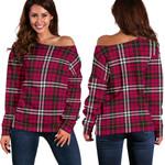 Tartan Womens Off Shoulder Sweater - Little - BN