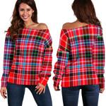 Tartan Womens Off Shoulder Sweater - Aberdeen District - BN