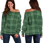 Tartan Womens Off Shoulder Sweater - MacDonald Lord Of The Isles Hunting - BN