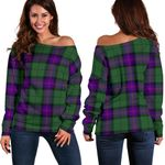 Tartan Womens Off Shoulder Sweater - Armstrong Modern - BN