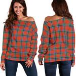 Tartan Womens Off Shoulder Sweater - Sinclair Ancient - BN