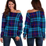 Tartan Womens Off Shoulder Sweater - McCorquodale - BN