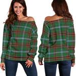 Tartan Womens Off Shoulder Sweater - Gayre