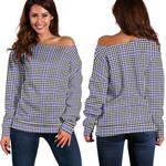 Tartan Womens Off Shoulder Sweater - Sir Walter Scott - BN