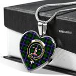 Russell Tartan Crest Heart Necklace - BN