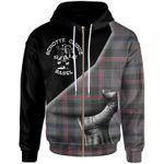 Schotte Clique Tartan Zip Hoodie - Scottish Clan With Hand