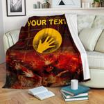 [Custom] 1stAustralia Aboriginal Premium Blanket - Indigenous Flag Hand Art