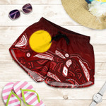 1stAustralia Aboriginal Women's Shorts - Red Landscape